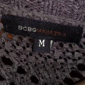 BCBG MaxAzria grey Crochet, open style cascading c